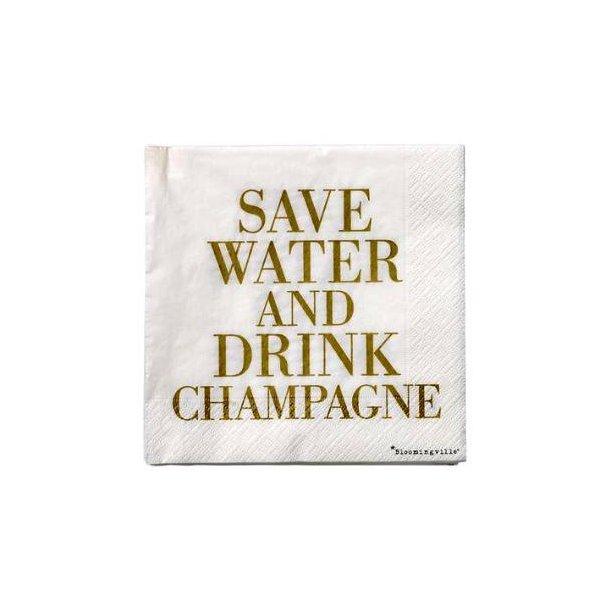Servietter, champagne