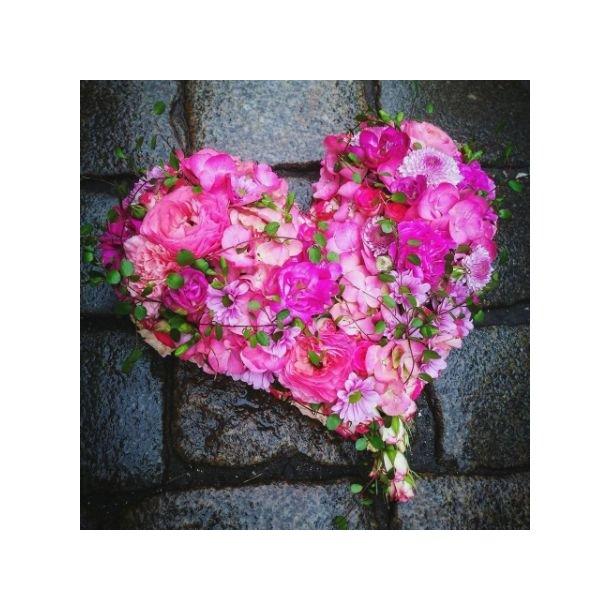 Hjerte til begravelse, lys lilla