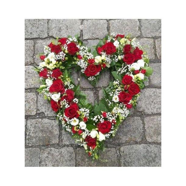 Åpent hjerte, rødt og hvitt