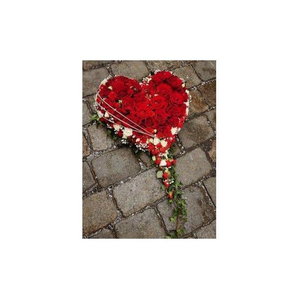 Kistedekorasjon, Stort rosehjerte