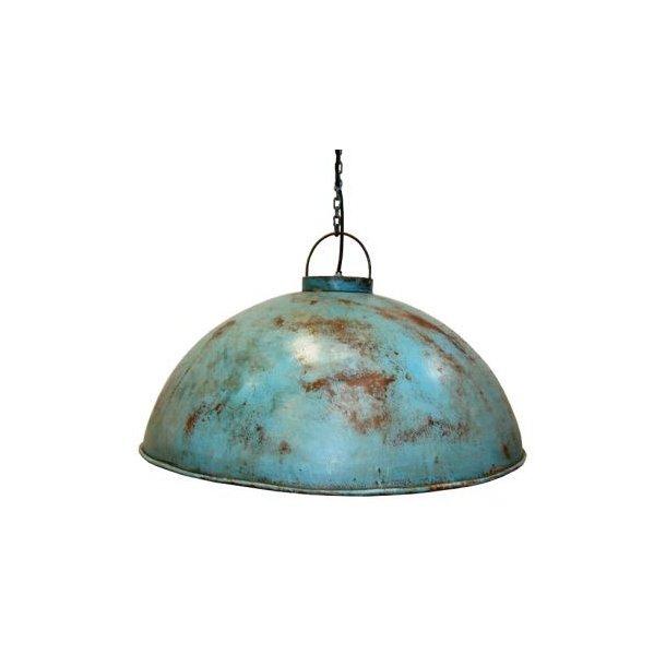 Svær taklampe, antikkblå
