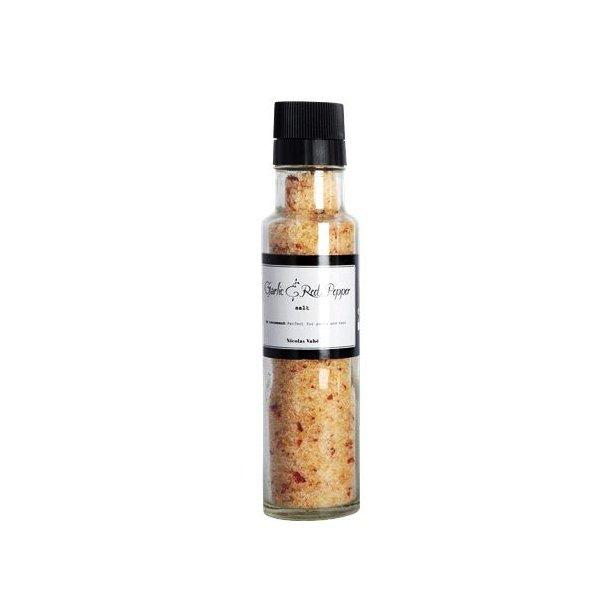 Saltkvern med hvitløk og rød pepper