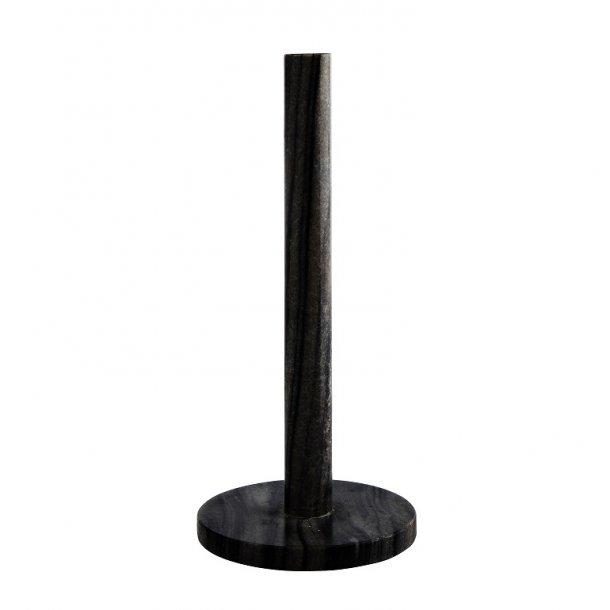 Tørkerullholder, sort marmor