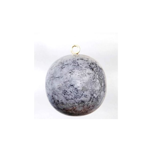 Julekule, grå marmor